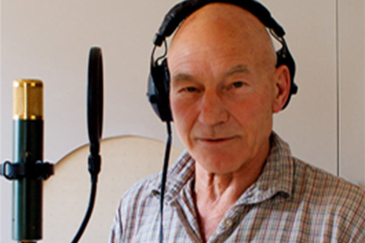 'Voiceover recording studio London Patrick Stewart'